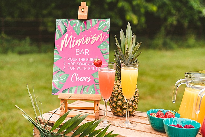 'Tropical Paradise at Home' Bright and Colorful Party and Wedding Inspiration for Small Gethings