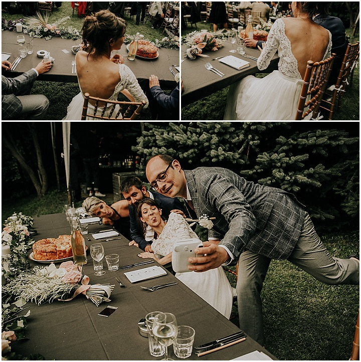 Nadezhda and Victor's rainy outdoor party wedding all planned in 5 months