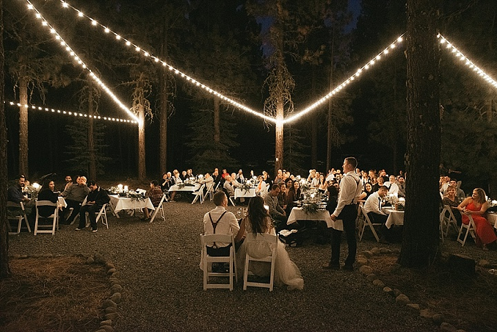 Kourtney and Kevan's DIY California Forest Wedding with 1000 Paper Cranes by Matthew Lim Photography