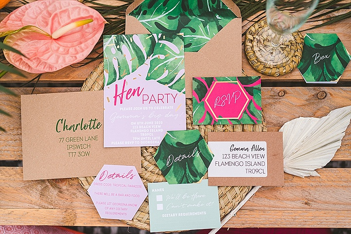 'Tropical Paradise at Home' Bright and Colorful Party and Wedding Inspiration for Smaller Things