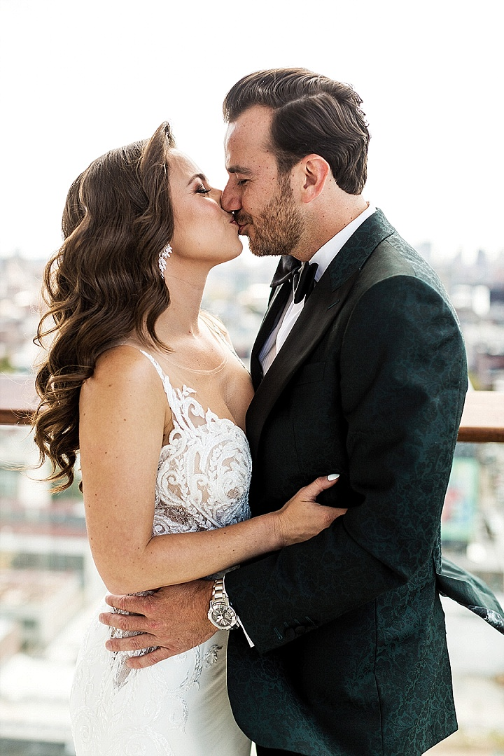Boris and Lana's Elegant Brooklyn Roof Top Wedding by Stark Studios