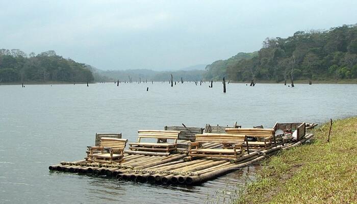 Bamboo Rafting in Wayanad