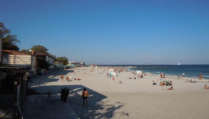 Perfect beach for sunbathing