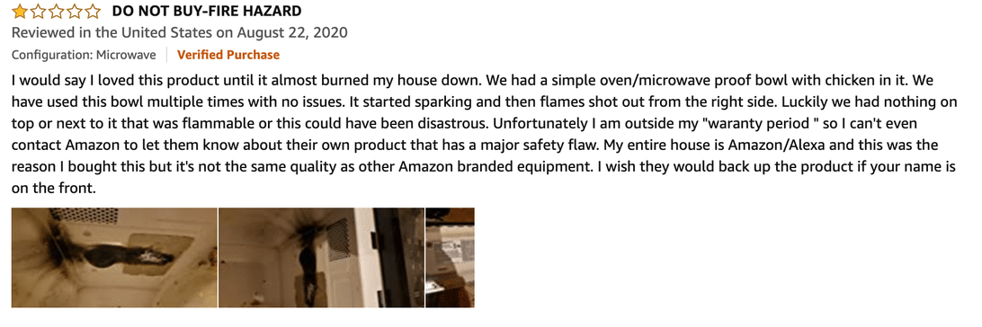 Amazon microwave review