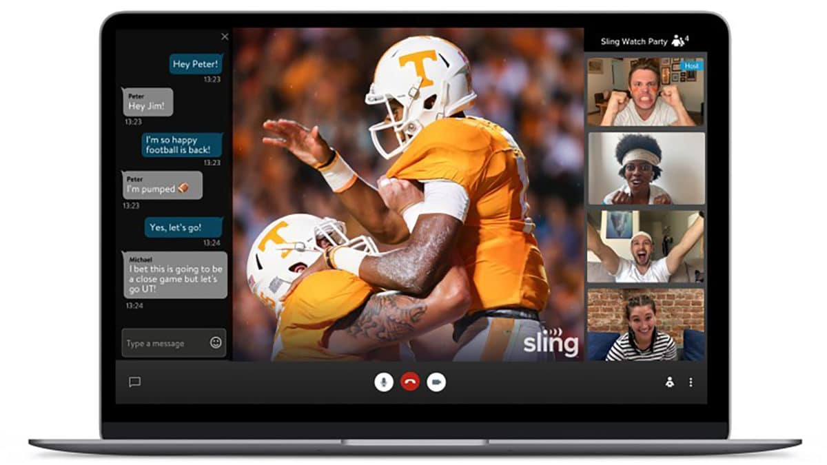 Watch Sling TV Party video chat