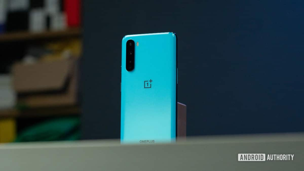 OnePlus North in the back shot Held from the angle