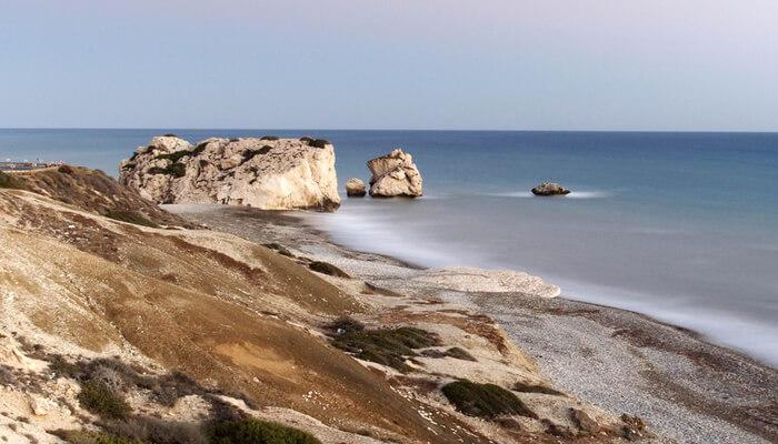 Sea shore Cyprus in December