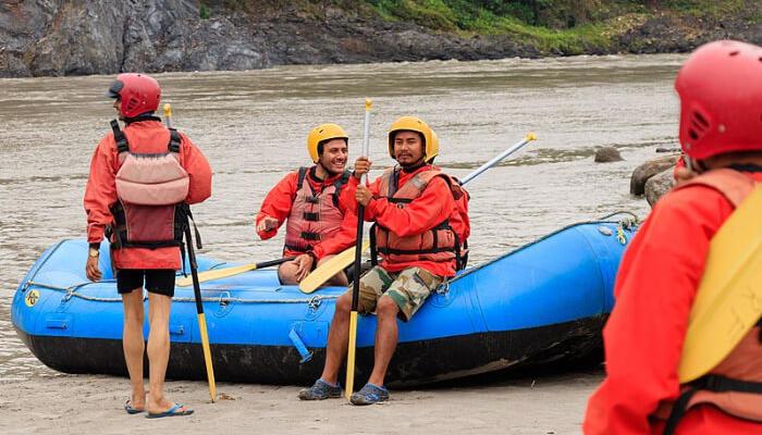 Enjoy rafting in kalimpong