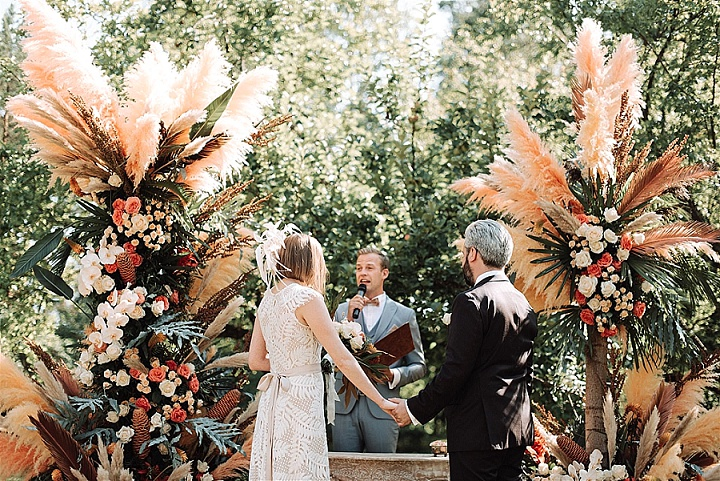 Natalja and Pablo's 'Whimsical Boho' Pampas Grass Filled Latvian Wedding