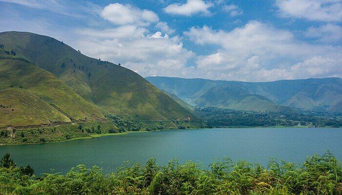 A lake on the island