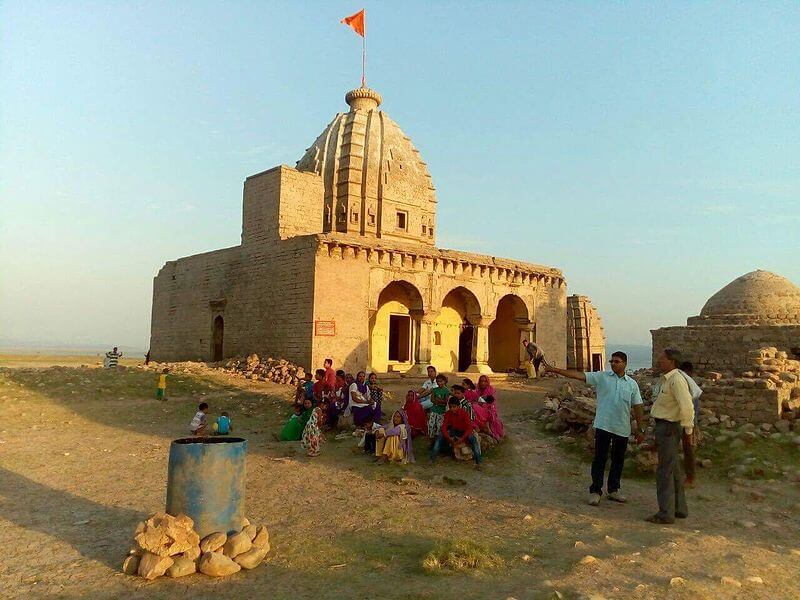 View of a temple in Kangra