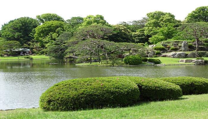 Rikugien Garden in Tokyo