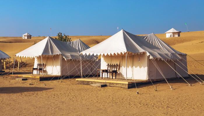 Camping at Sambhar Lake