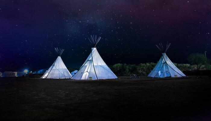 Night camping in Mount Abu