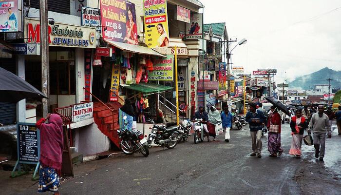 Bazaar Road In Kodaikanal