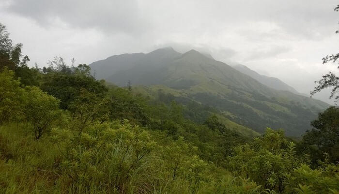 Pushpagiri hill in Coorg