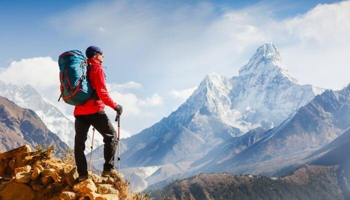 trekking of mountains