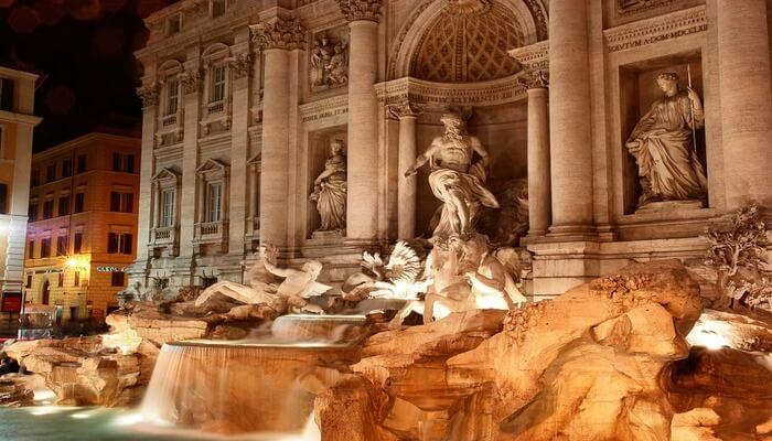 A Good Luck Coin Toss at Trevi Fountain