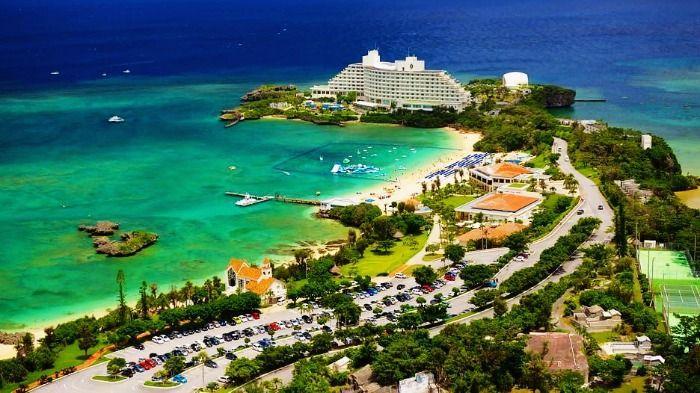 Tropical Beach in Okinawa in Japan