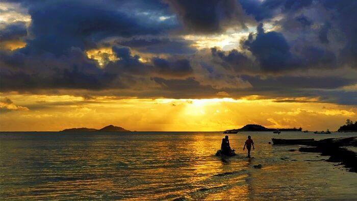 Sandeep Seychelles Tour: Mahe Sunset