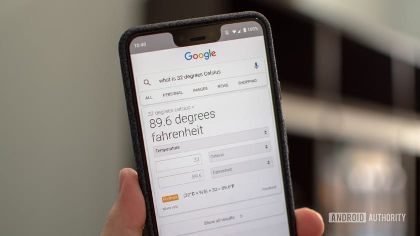 Answer to google search