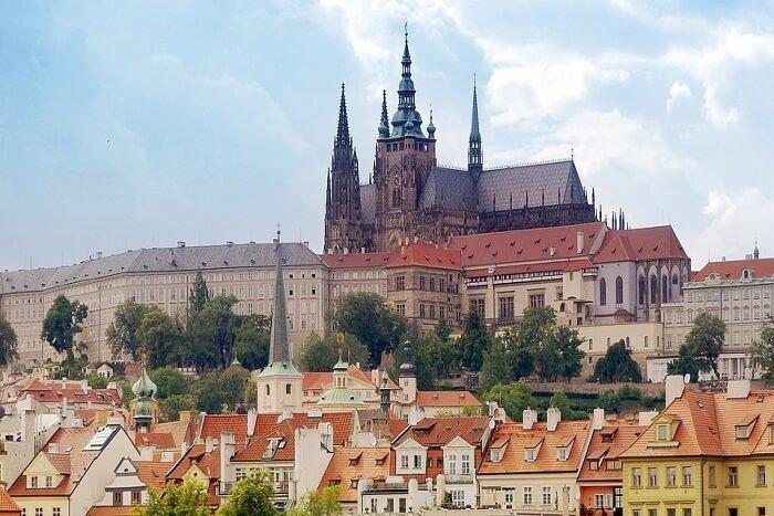 Famous palaces in Prague