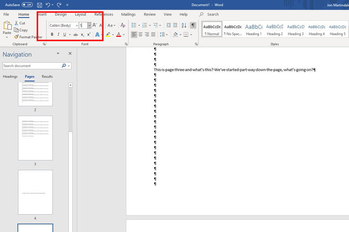 Change paragraph font size