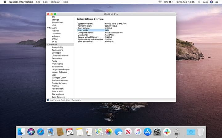 Safe Mode in MacOS