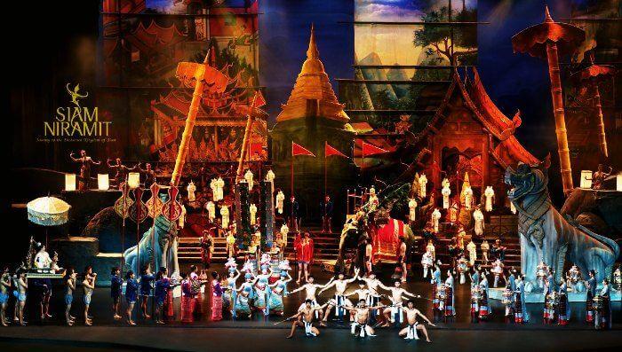Siam Nirmit cultural night show in Bangkok