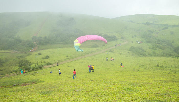 View of Paragliding In vagamon