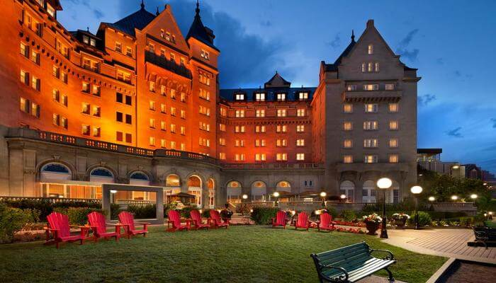 View of Fairmont Hotel Macdonald