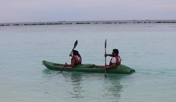 indulge in kayaking
