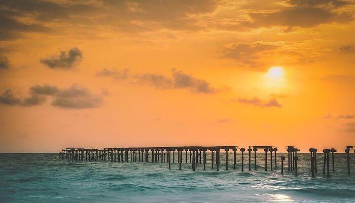 Alappuzha Beach - one of the most visited beaches in Kerala