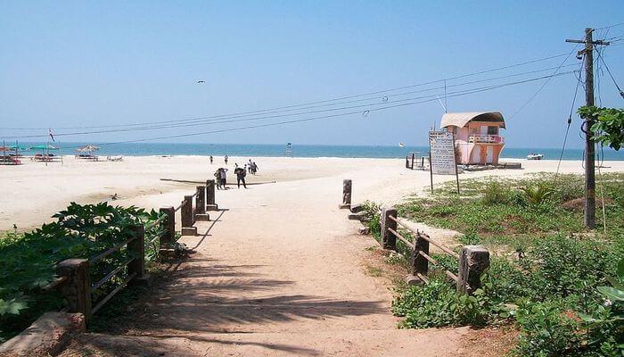 Beautiful majorda beach