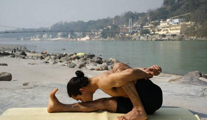 Doing Yoga in Rishikesh Ashrams