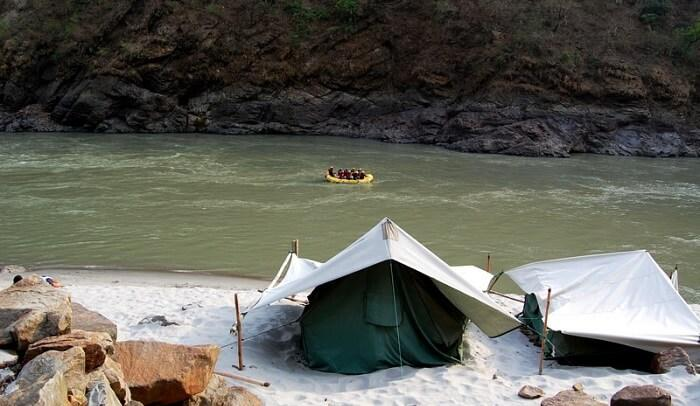 Camp near the Ganges