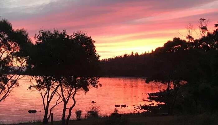 Tasmania in January - Sunset in tasmania