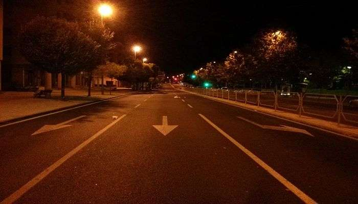 Avoid traveling at night
