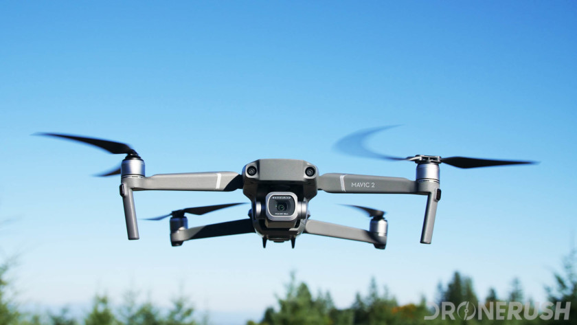 One of the best drones is the DJI Mavic 2 Pro, flying on a sunny day with blue skies