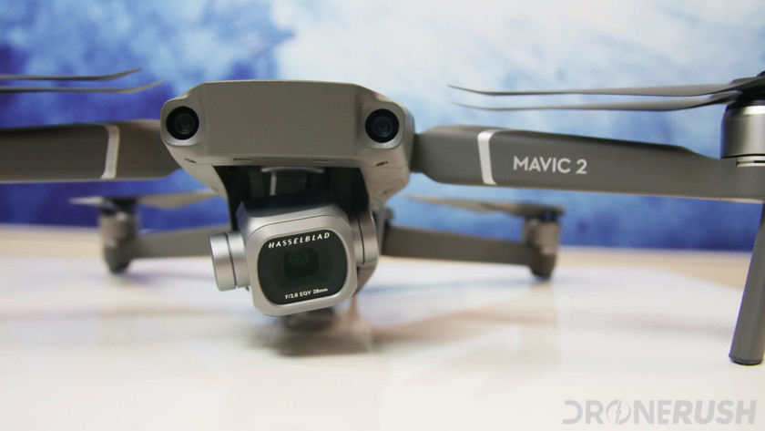 DJI Mavic 2 Pro front close up on Hasselblad camera, one of the best camera drones under $2000