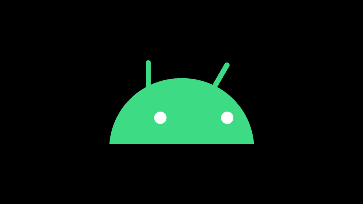new android logo 2019 robot head black background