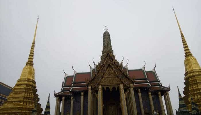 Architectural work on the temple
