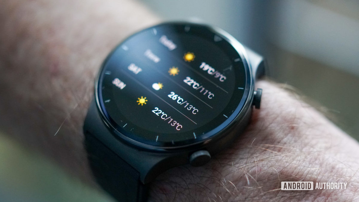 Huawei Watch GT 2 Pro weekly weather forecast