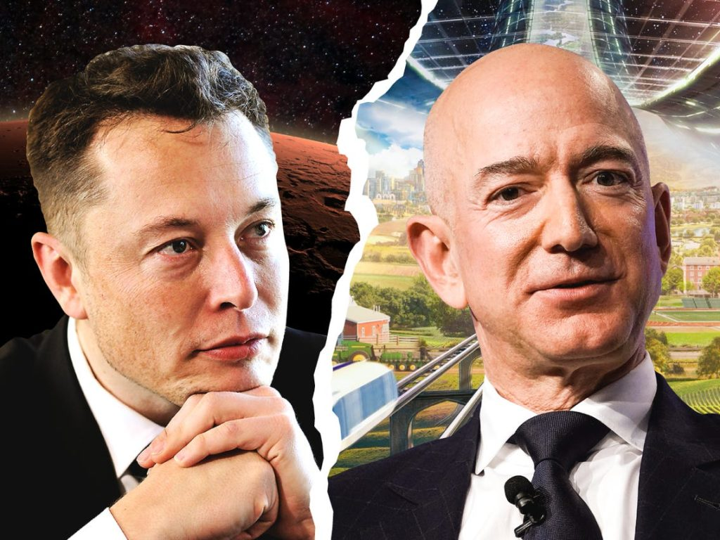 Jeff Bezos and Elon Musk