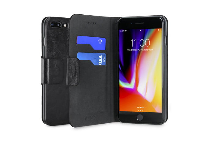 Olixar leather-style wallet case for iPhone 7 Plus