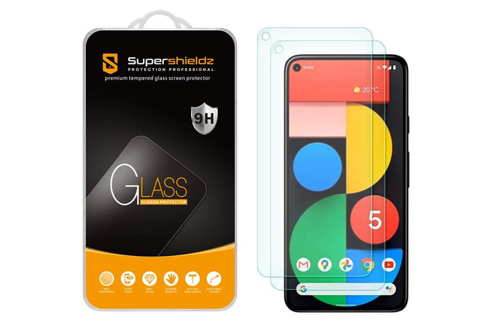 Supershieldz Tempered Glass Screen Protector 2 Pack for Google Pixel 5