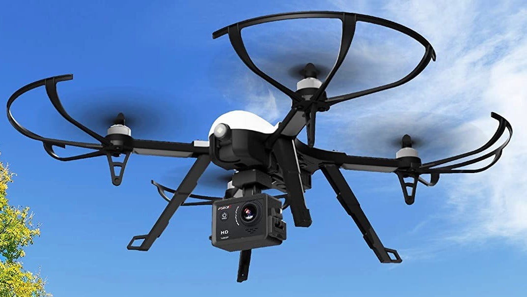Product still of airborne Force1 drone