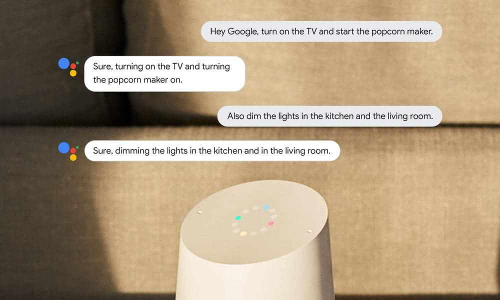 Ongoing Google Assistant conversations