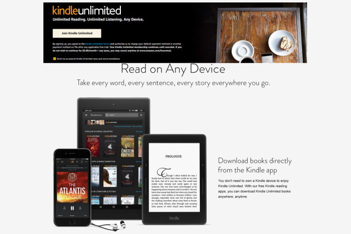 Sign up for Kindle Unlimited subscrpt