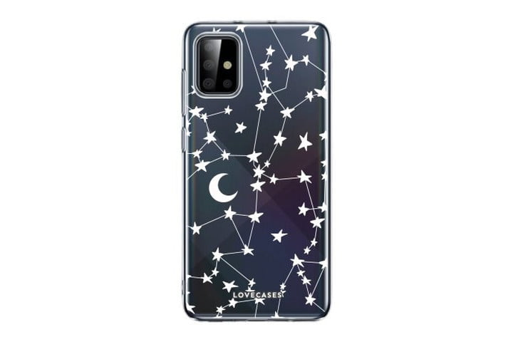Lovecases white stars and moons clear case Samsung Galaxy A72